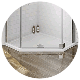 Pentagon Shower Trays