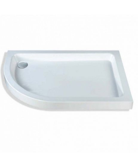 Classic quadrant shower trays Stone Resins Offset Quadrant Left Hand 1200mm x 800mm Flat top