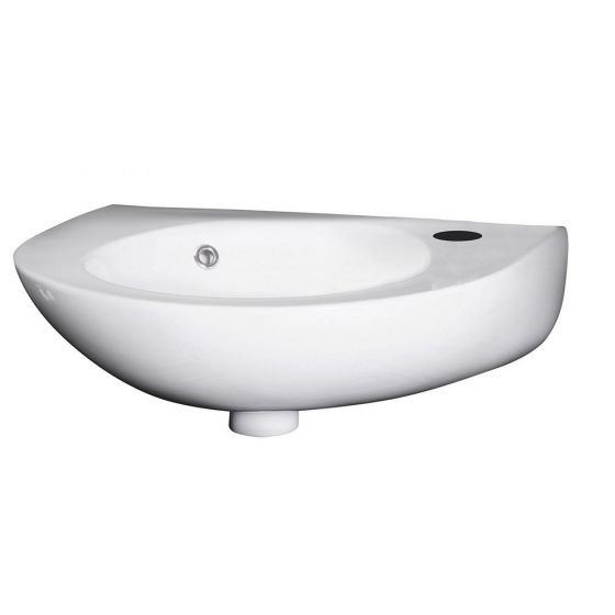 Nuie 450mm Round 1 Tap Hole Wall Hung Basin