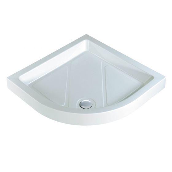 Classic quadrant shower trays Stone Resin Quadrant 800mm x 800mm Flat top