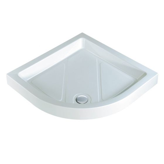 Roma Classic quadrant shower trays Stone Resins Offset Quadrant Right Hand 900mm x 760mm Flat top