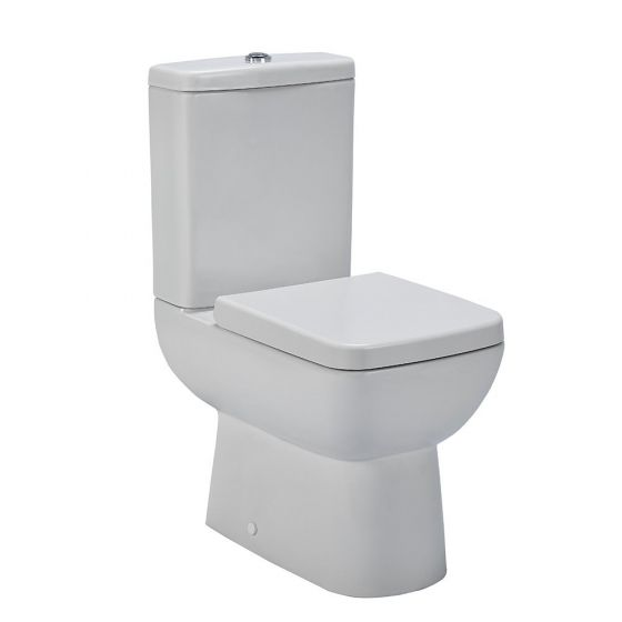 Nuie Ambrose Compact Semi Flush To Wall Toilet & Seat