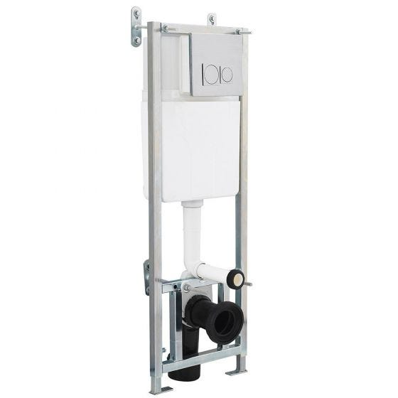 Nuie Dual Flush Concealed WC Cistern with Wall Hung Frame