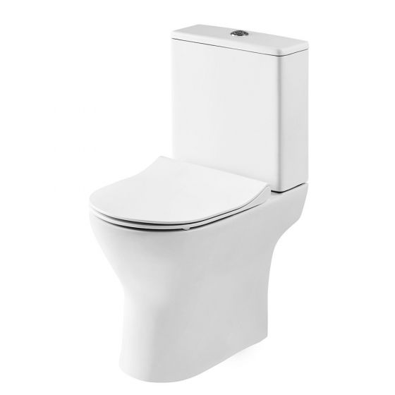 Nuie Freya Compact Close Coupled Toilet With Soft Close Seat