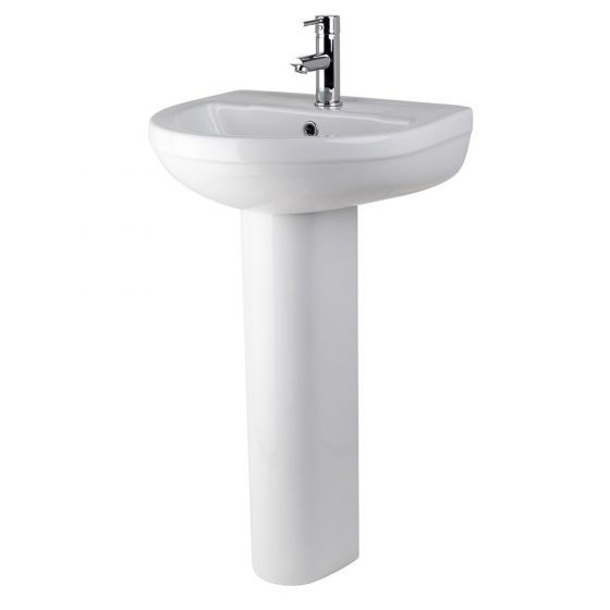 Nuie Harmony 500mm 1 Tap Hole Basin & Pedestal