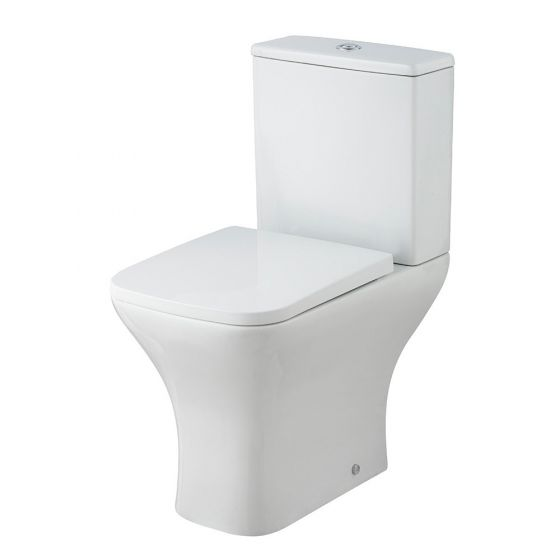 Nuie Ava Rimless Close Coupled Toilet With Soft Close Seat