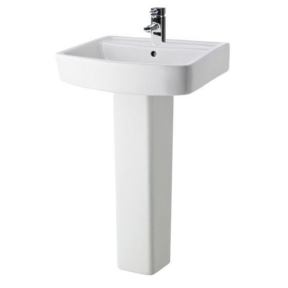 Nuie Bliss 600mm 1 Tap Hole Basin & Pedestal