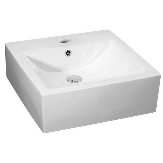 Nuie 470mm 1 Tap Hole Deep Square Counter Top Vessel Basin