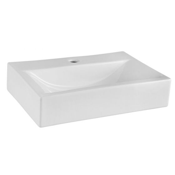 Nuie 450mm 1 Tap Hole Shallow Square Counter Top Vessel Basin