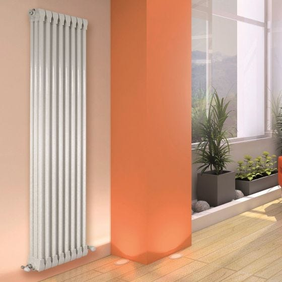 Apollo Monza Vertical 3 Column Aluminium Radiator 1270mm x 500mm - Traffic White