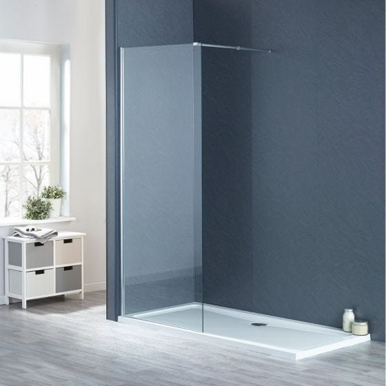 1200mm x 760mm Wetroom Shower Screens Shower Enclosure and Shower Tray