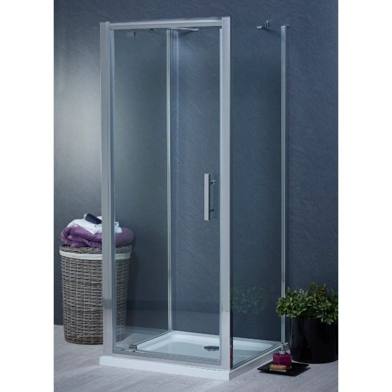 Aqua-I 3 Sided Shower Enclosure - 760mm Pivot Door and 700mm Side Panels