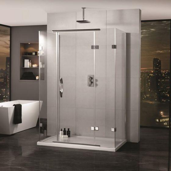Aquadart Inline 3 Sided Hinged Shower Enclosure 1600mm x 900mm