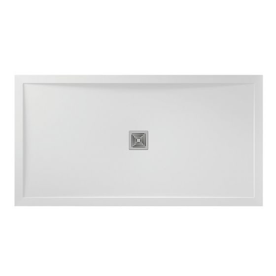 White Gloss Aqualavo 1600mm x 900mm Shower Tray