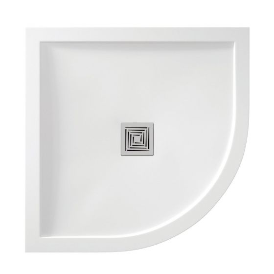 White Gloss Aqualavo 1200mm x 900mm Offset Quadrant Shower Tray Right Handed