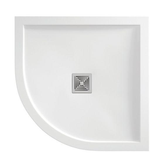 White Gloss Aqualavo 1200mm x 900mm Offset Quadrant Shower Tray Left Handed