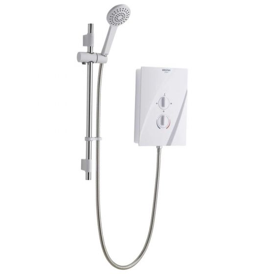 Bristan Cheer Electric Shower 8.5kW White / Chrome