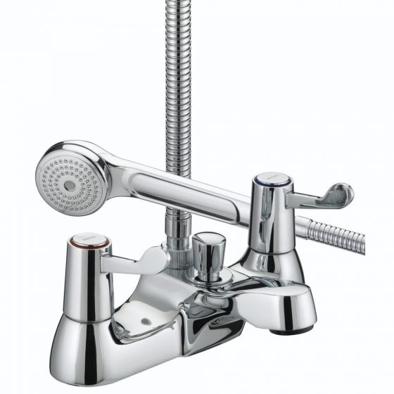 "Bristan Lever Bath Shower Mixer with 3"" Levers"