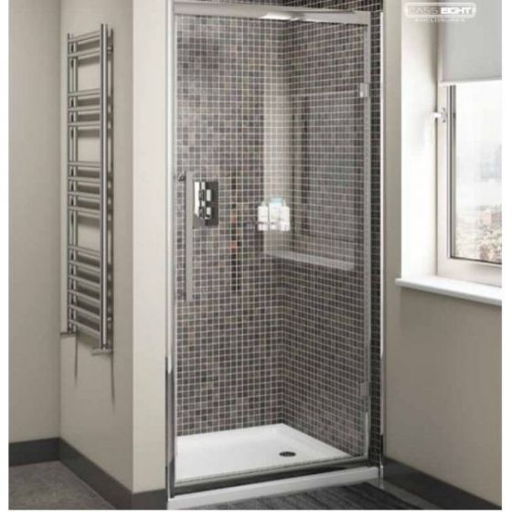 Cassellie Cass Eight 8mm Hinged Shower Door 800mm