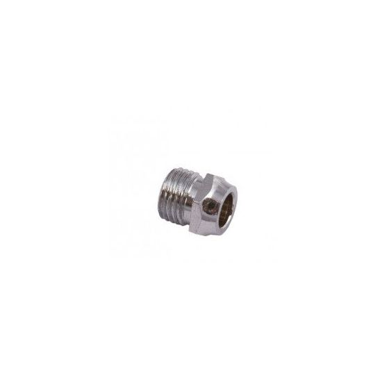 Chrome 8mm Restrictor Elbow Nut Only