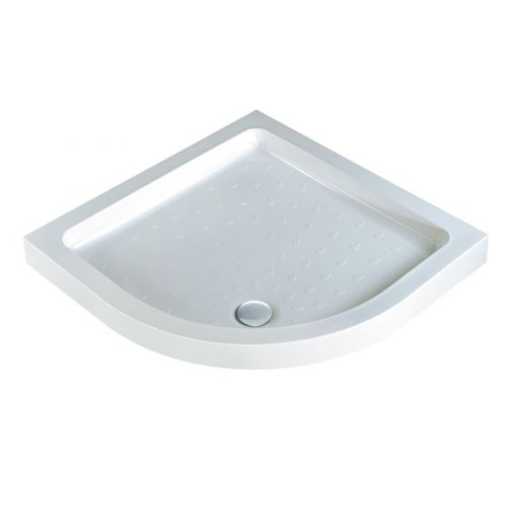 Classic quadrant shower trays Stone Resin Quadrant 1000mm x 1000mm Flat top