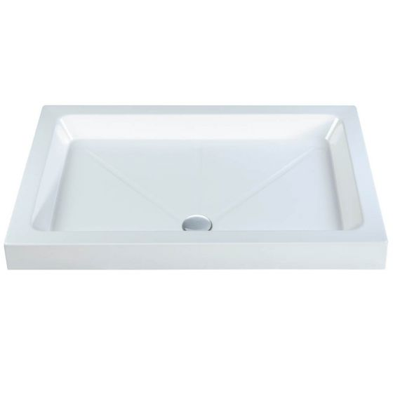 Roma Classic shower Trays Stone Resin Rectangle 1600mm x 800mm Flat top