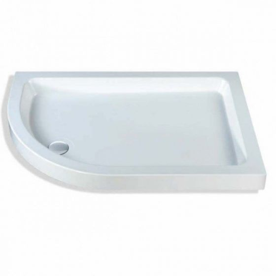 Classic quadrant shower trays Stone Resins Offset Quadrant Left Hand 1000mm x 800mm Flat top