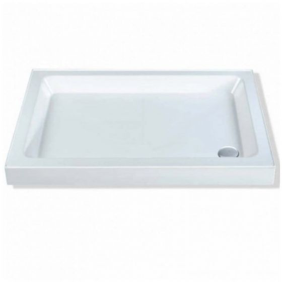 Classic Shower Trays Stone Resin Rectangle 1100mm x 760mm Flat top