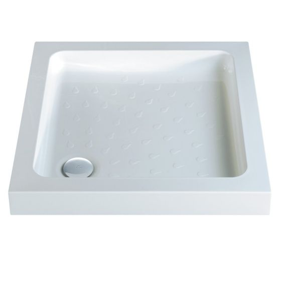Classic Shower Trays Stone Resin Square 800mm x 800mm Flat top