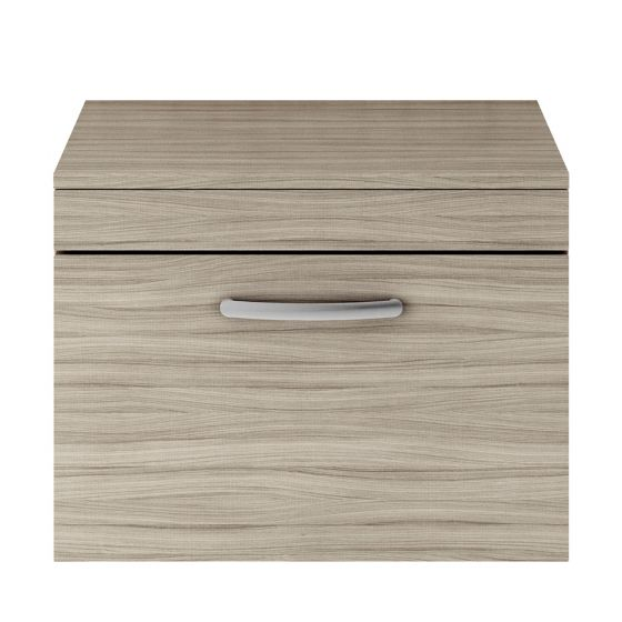 Nuie Athena 600mm Wall Hung Cabinet And Worktop - Driftwood