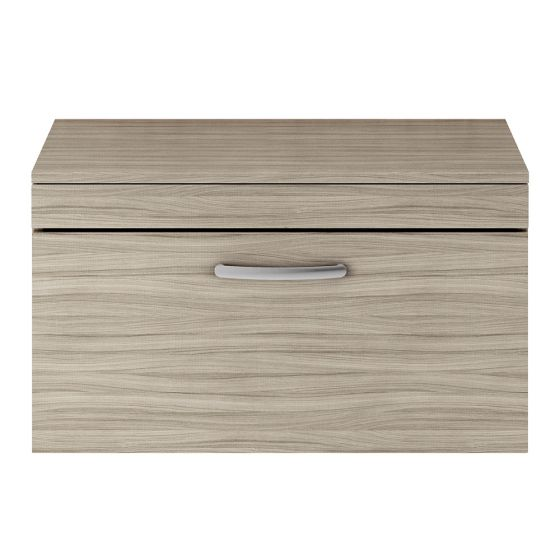 Nuie Athena 800mm Wall Hung Cabinet And Worktop - Driftwood