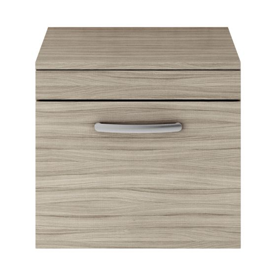 Nuie Athena 500mm Wall Hung Cabinet And Worktop - Driftwood