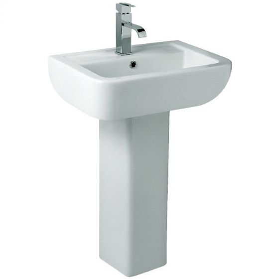 Roma Duo 60 560mm 1 Tap Hole Basin and Pedestal