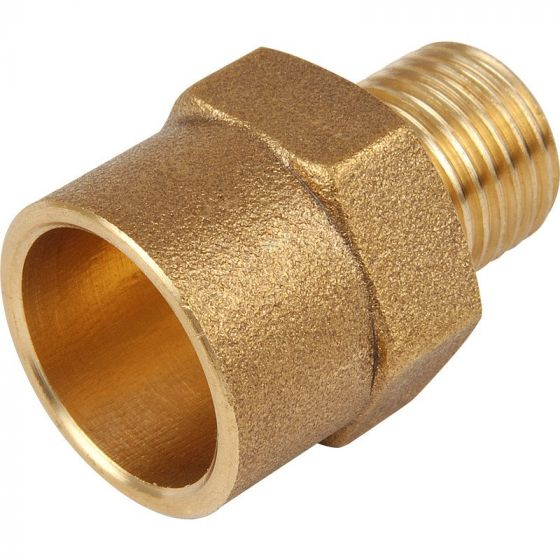 """End Feed Male Iron Coupler 15mm x 1/4"""""""