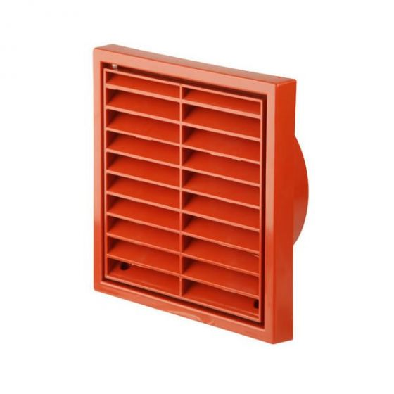 "Fixed Wall Grille 100mm / 4"" - Terracotta"