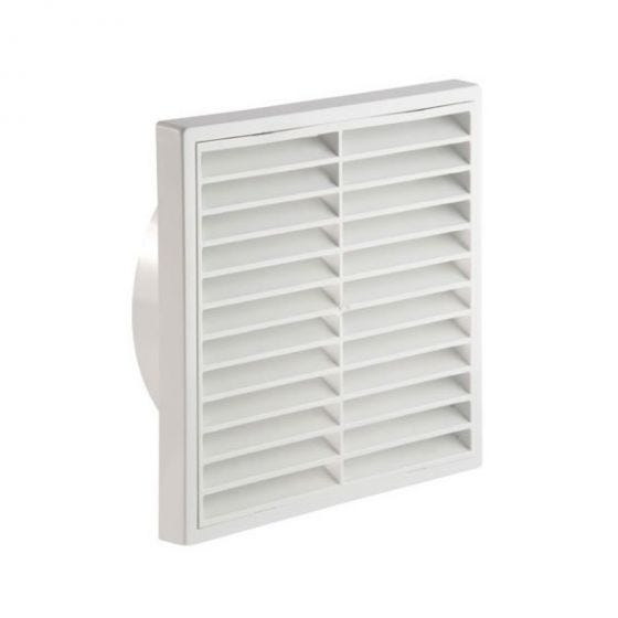 "Fixed Wall Grille 150mm / 6"" - White"