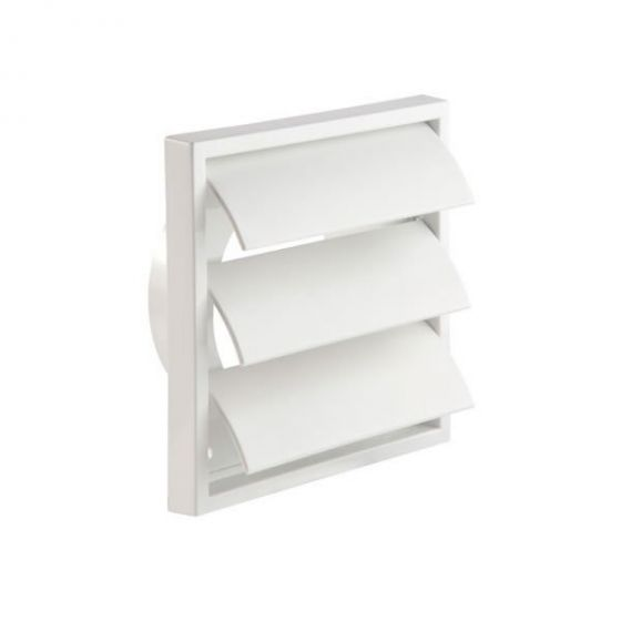 """Gravity Wall Grille 100mm / 4"""" - White"""