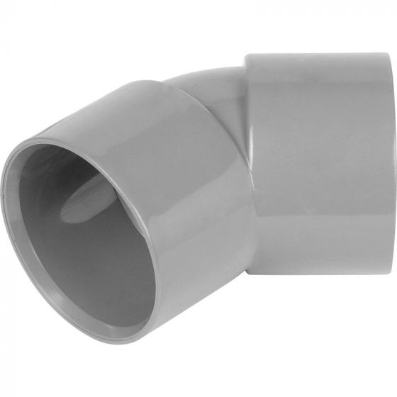 Grey 32mm Solvent 135 Degree Bend