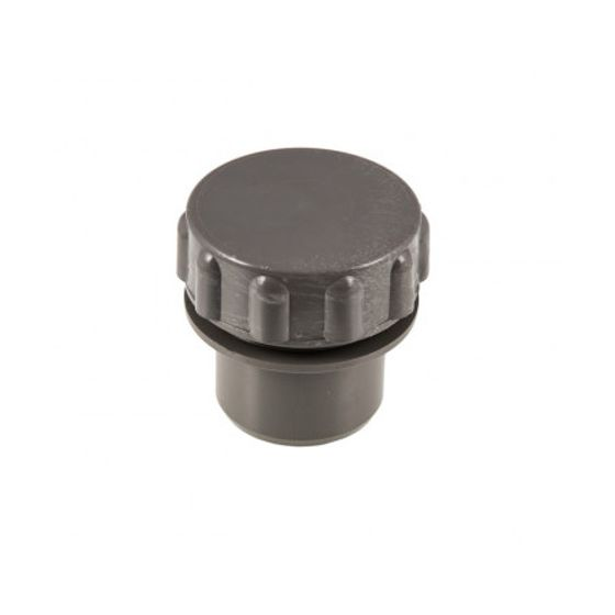 Grey 32mm Solvent Screwed Access Plug