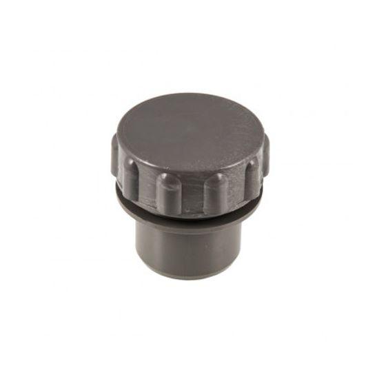 Grey 40mm Solvent Screwed Access Plug