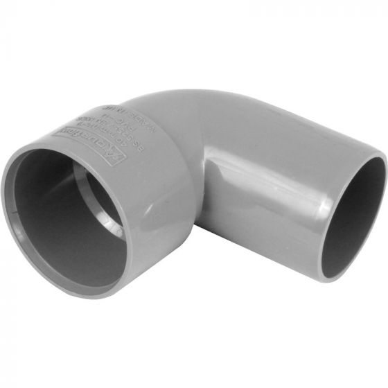 Grey 40mm Solvent 90 Degree Street Elbow