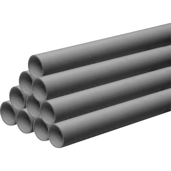 Grey 40mm Solvent Waste Pipe - 3m Length