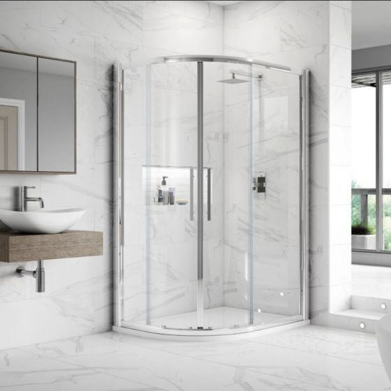 Hudson Reed Apex Double Door Offset Quadrant Shower Enclosure 900mm x 800mm