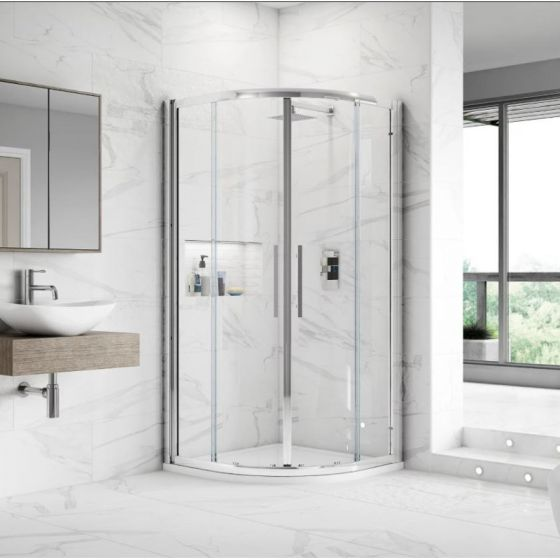 Hudson Reed Apex Double Door Quadrant Shower Enclosure 900mm x 900mm