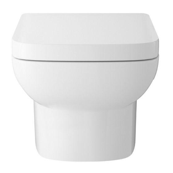 Hudson Reed Arlo Wall Hung Pan & Soft Close Seat - White