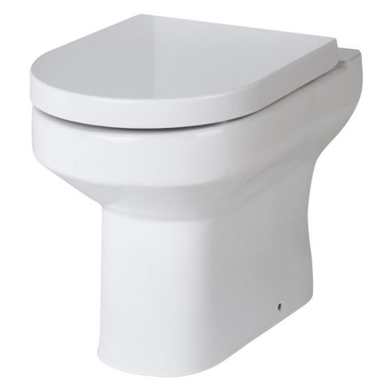 Hudson Reed Harmony Back to Wall Pan & Soft Close Seat - White