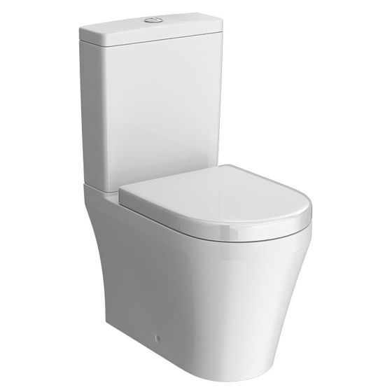 Hudson Reed Luna Flush to Wall Pan with Cistern & Soft Close Seat