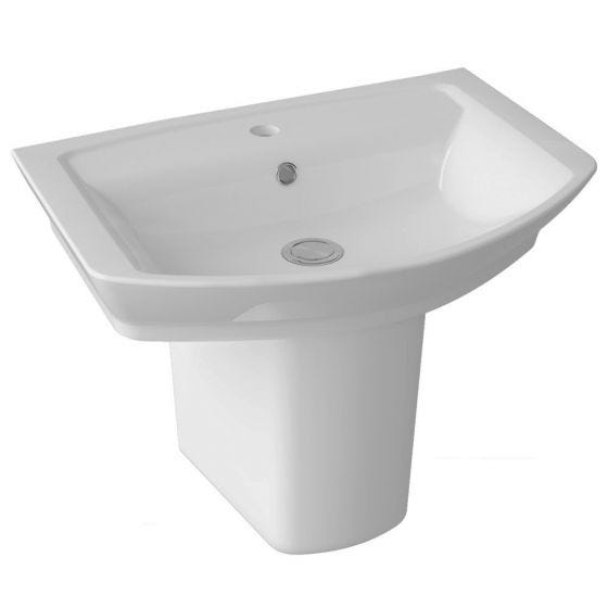 Hudson Reed Maya 650mm Basin & Semi Pedestal
