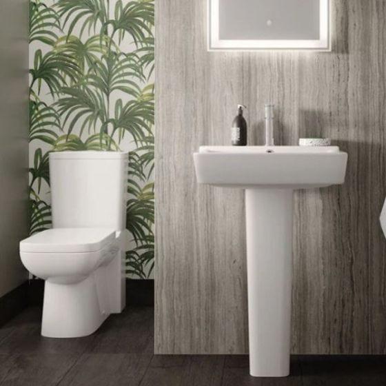 Hudson Reed Maya Flush to Wall Pan with Cistern & Soft Close Seat