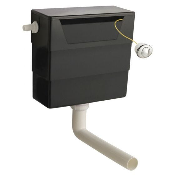 Hudson Reed Universal Access Dual Flush Concealed WC Cistern - Black